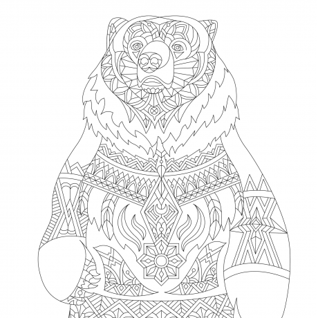 "Раскраска ""Медведь"""