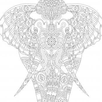 "Раскраска ""Слон"""