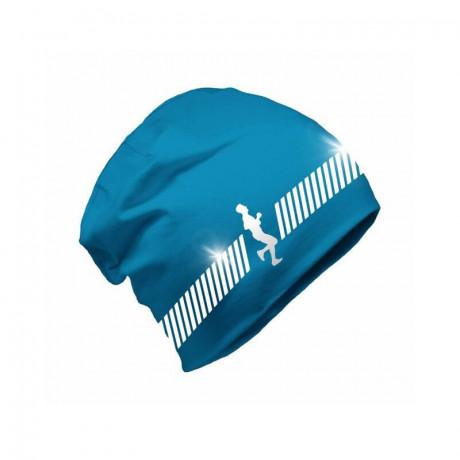 Шапка Бини со светоотражающим элементом Refloactive (голубой)