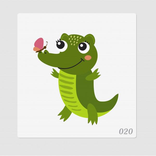 """Иллюстрация """"Крокодильчик"""""""