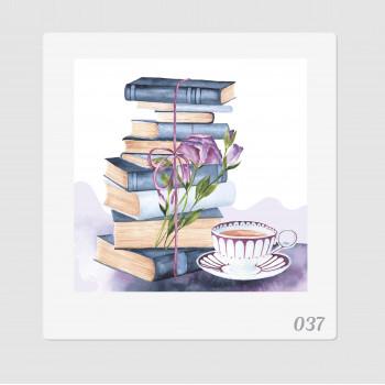 """Иллюстрация """"Книги и чашка..."""