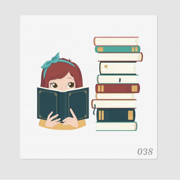 """Иллюстрация """"Девочка с книгами"""""""