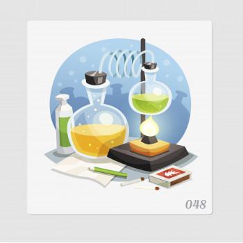 """Иллюстрация """"Опыты по химии"""""""