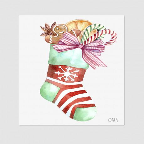"""Иллюстрация """"Рождественский носок"""""""