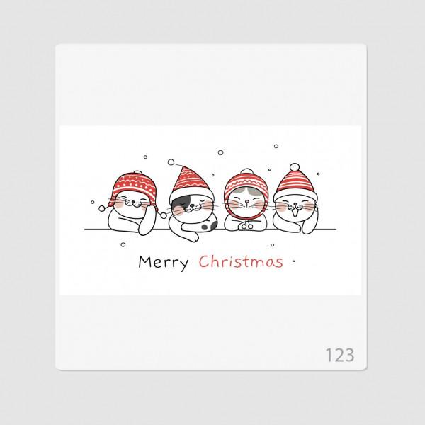 """Иллюстрация """"Merry Christmas котики"""""""