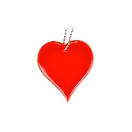 """Мягкая светоотражающая подвеска """"Красное сердце"""""""