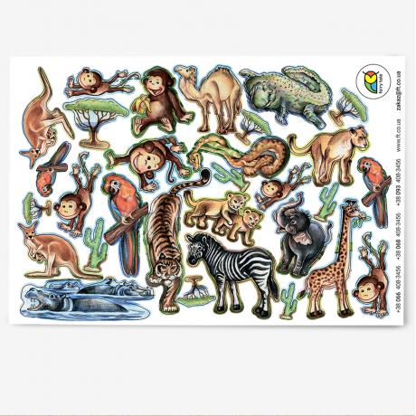 Наклейки «Экзотические животные»
